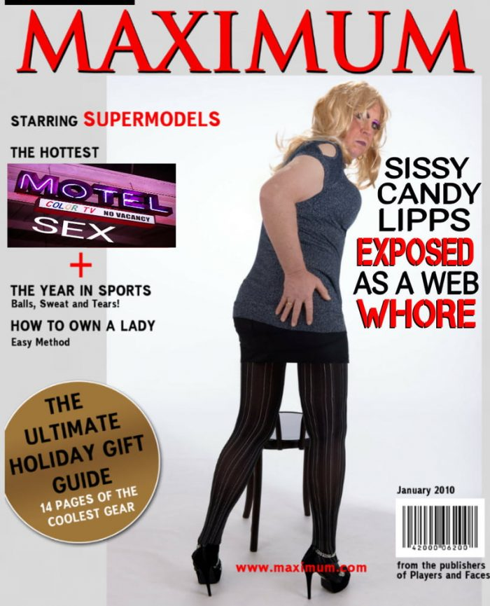 Sissy Mag Cover for Candy the Slut!