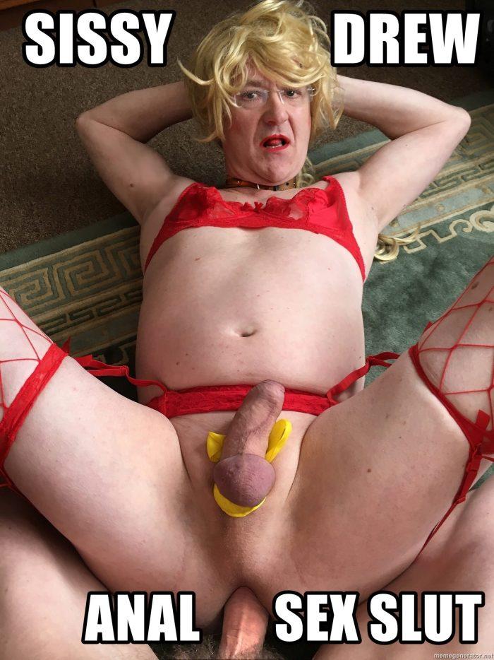 Sissy drew exposed anal sex cumslut