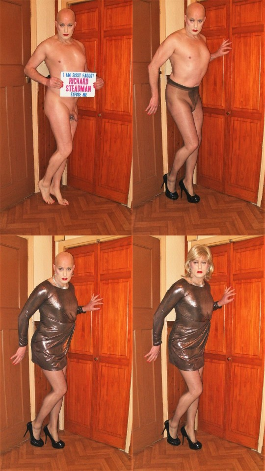 Wigless Sissy Exposed