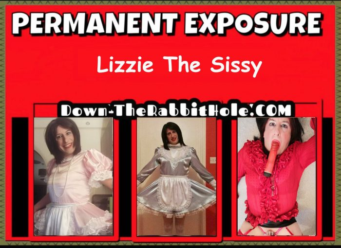 Sissy slut Elizabeth. Pink satin.. Blue satin… Blouse wearing slut