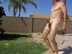 Playing with myself in the backyard….again!