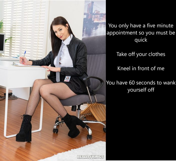 Appointment with the wank therapist…