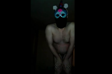 Sissy clitty takes a morning ball busting in his panties