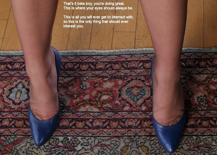 I am a shoe licking, two finger wanking foot freak. Perving over a woman's shoes while I j ...