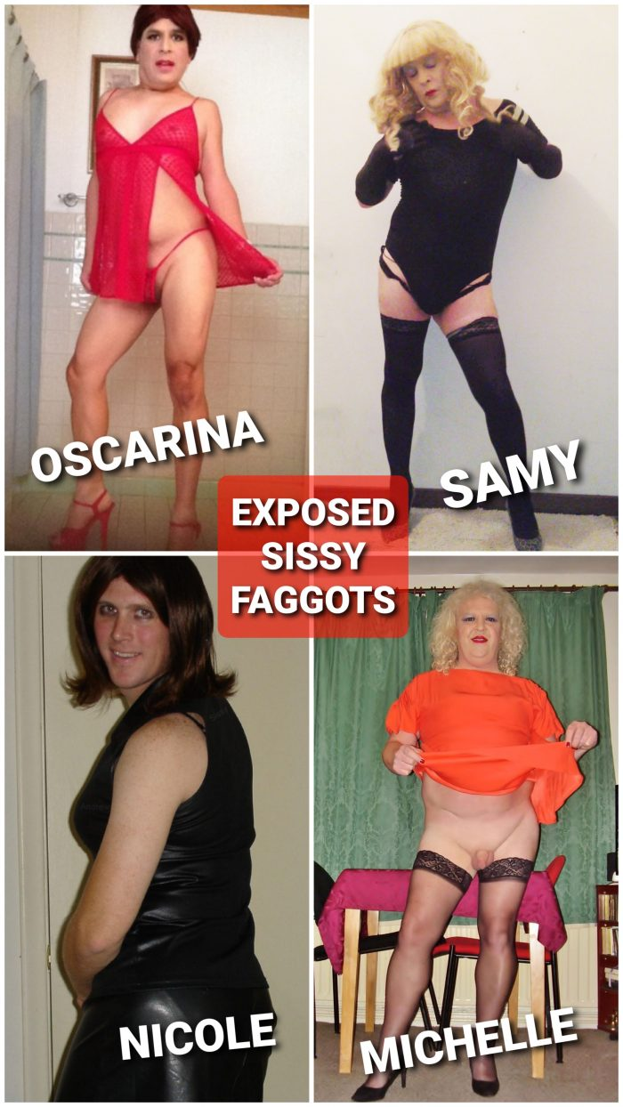 Exposed Sissy Faggots