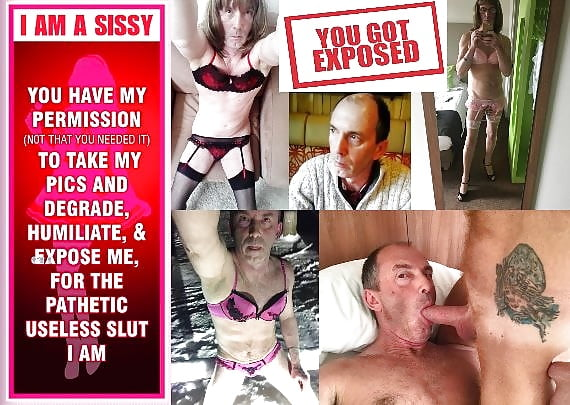 sissy slut cums on out, before and after