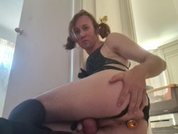 Pathetic locked and plugged