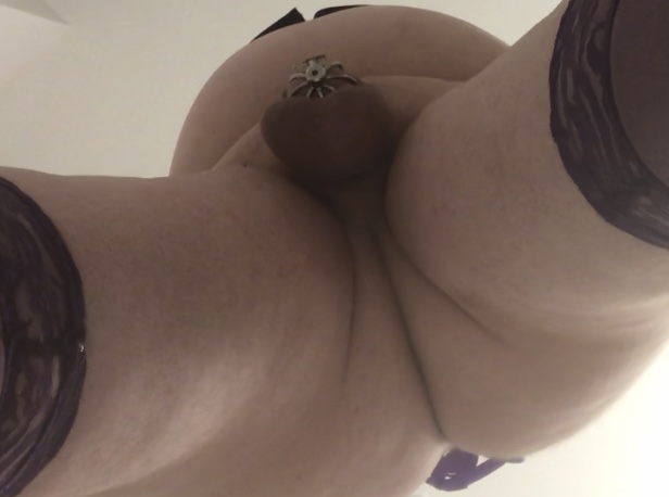 Repin this everywhere. Sexy sissy in purple about to be bred