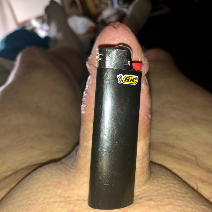 Can really tell how small the Dickclit is with the bic comparison