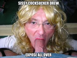 Sissy drew sucks cock..