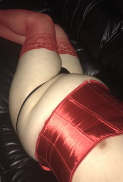 Legs together wearing cute little panties