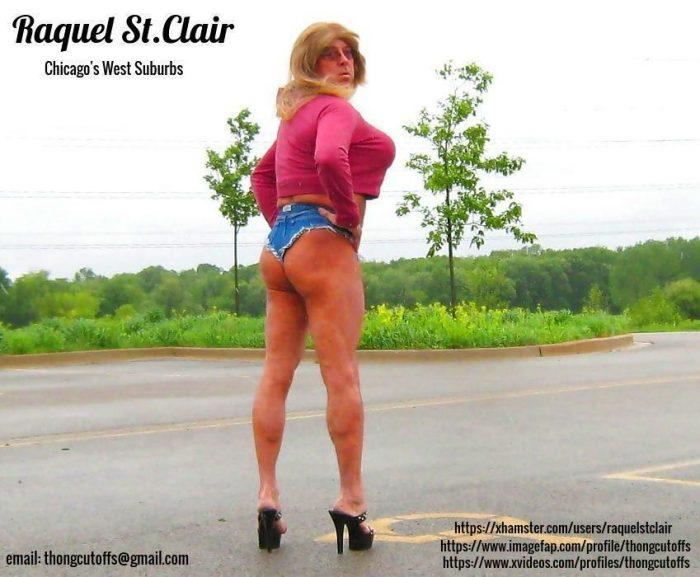 Raquel St.Clair in Slutty Daisy Duke Short Shorts
