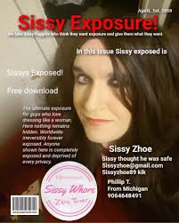 sissy slut loves her own magazine! great way to be exposed for all to see