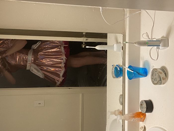 Sissy maid ready to serve