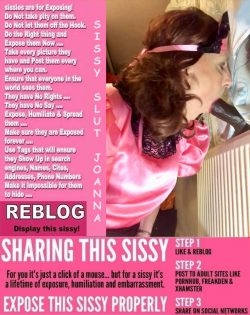 sissy faggots love being posted, shared, and exposed