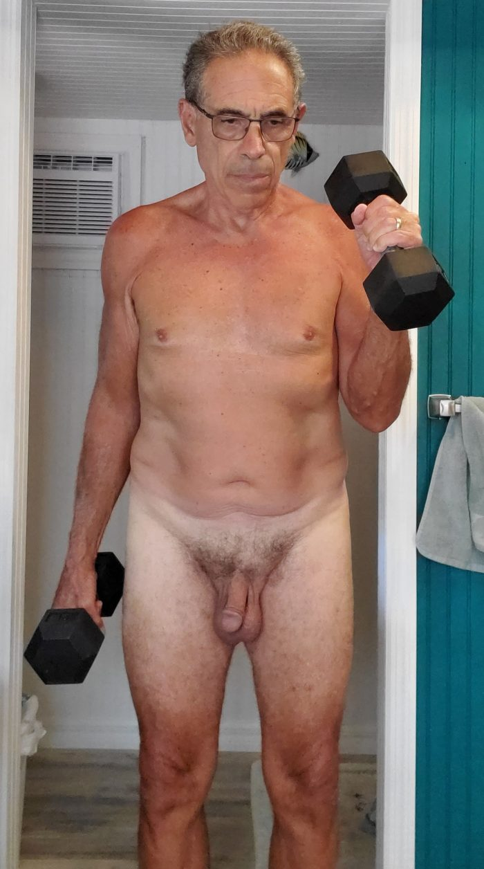 Jim Naked Exercising