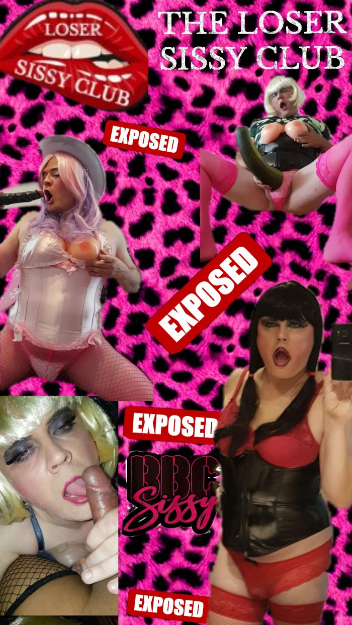 The loser sissy club Exposed faggot amy