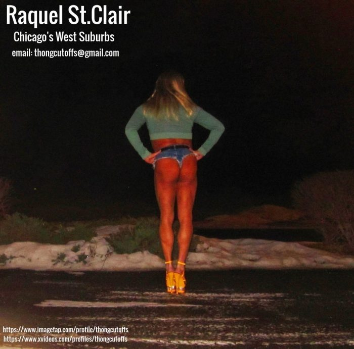 Raquel St.Clair the Cheap Tanned Blonde Street Whore