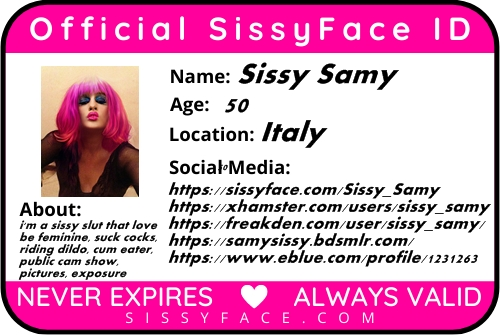Here i am …Sissy Samy id card and link ..follow me