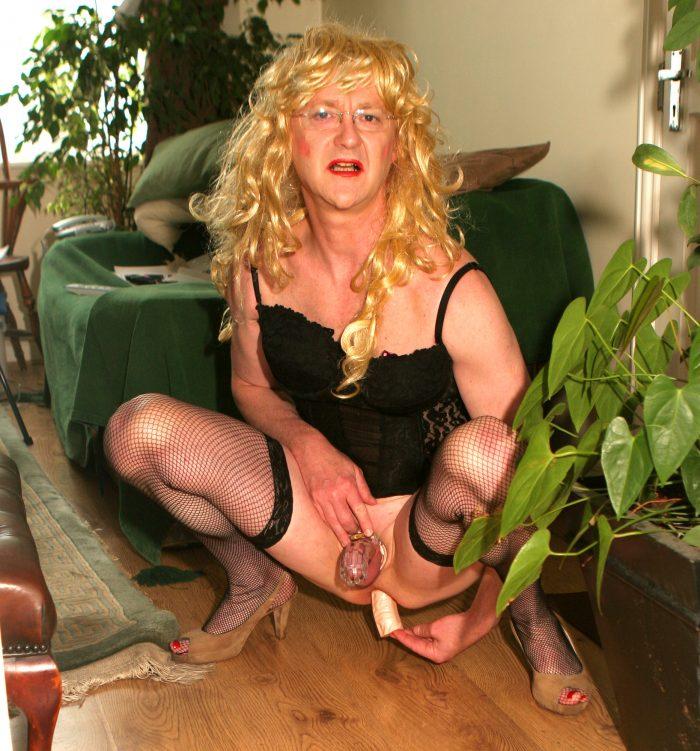 cocklocked tranny sissy drew anal sex