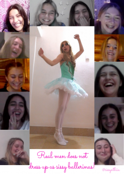 Sissynthiia as sissy ballerina laughed by girls