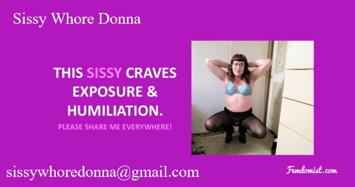 sissy slut donna for all to expose