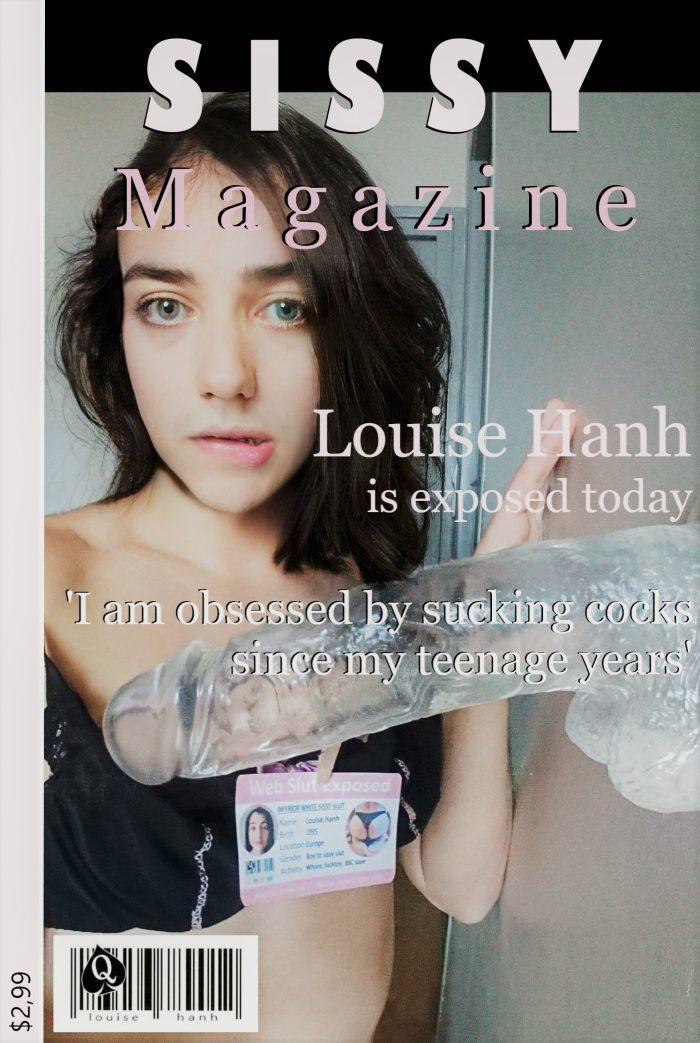 Sissy Faggot Louise Hanh in cover of Sissy Mag !