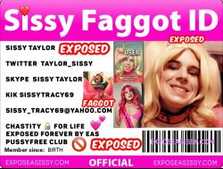 look at my exposed sissy follow her on twitter @taylor_sissy
