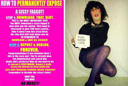sissy sluts loves being outed, we all do!