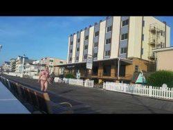 Trans Girl Denver shows off her bikini on the boardwalk in MD