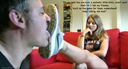 Yes Miss, I am a pathetic bitch. I consider licking dirt from a woman's shoes to be a priv ...