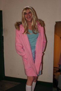 Pink dufflecoat
