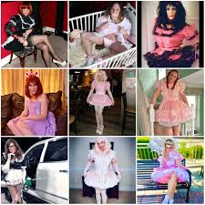 lil sissy sluts love dressing for men, in a crib, in a car, on a bench, all sissy all the time