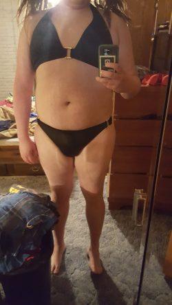 Sissy chub in bikini