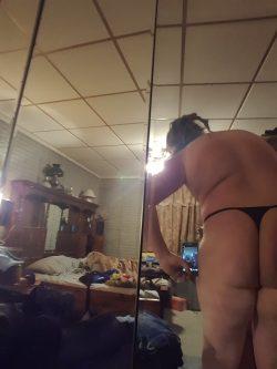 Chubby sissy thong