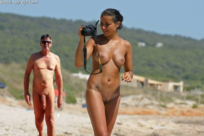 True nudist friends on the beach