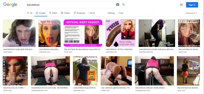 Lexicdwhore loves being sissy slut cocksucker