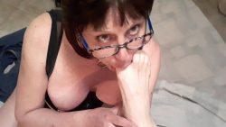 sissy licks feet