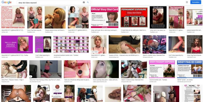 Sissy slut Dana gets exposed on google search. But it´s not enough. Please expose me more. Sissy ...