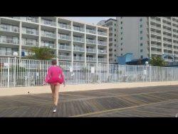 Denver Shoemaker strutting around the Ocean City boardwalk