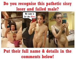 Sissy Fag Oliver: Post his name in the comments below