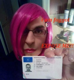 lorenzo calmanti from italy -outed sissy faggoot exposed