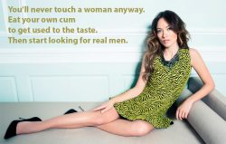 There's nothing to argue with in what she says. It's sissy destiny…