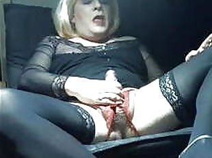 her caption says gay sissy swallows cum, this one does sooooo much more, sissy samy