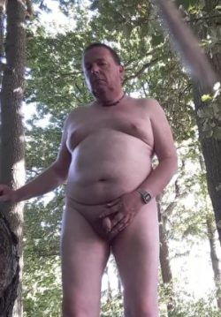 Andrew P naked in the woods again!