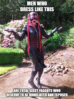 @forcedholland from twitter is such a beta cucked latex sissy faggot!