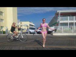 Working it on the Ocean City Boardwalk