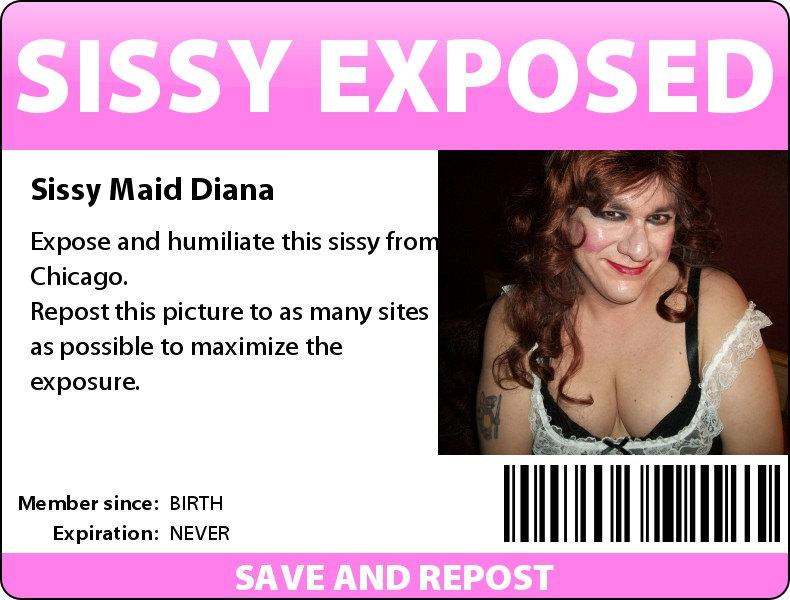 Sissy Maid Diana Esposed