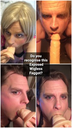 Pathetic Faggot Dana Exposed without a wig!