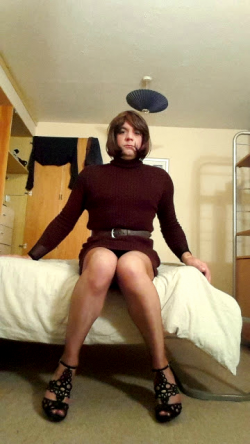 Exposed submissive sissy Emmy